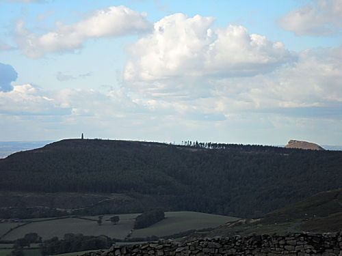 The great view from the top, notice Roseberry just poking out from the right with Captain Cook's on the left