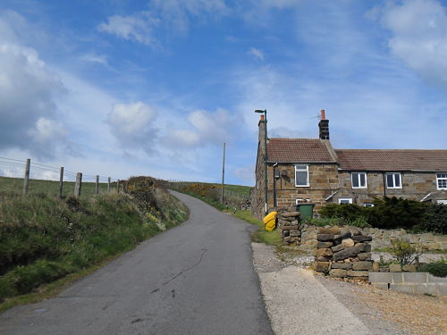 Nearing the steepest section, the house gives you an idea of the gradient