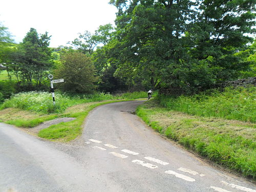 The start of the climb, the sign says Rosedale