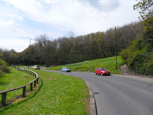 The hairpin just after the start