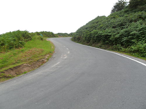 Just after the second hairpin, it's much steeper than it looks and it hurts like heck!