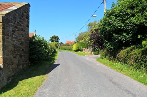 The village of East Barnby at the top of the climb, job more or less done