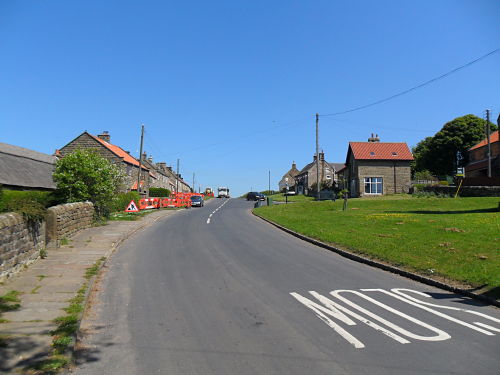 The top in Egton, the bench is at the end of the village