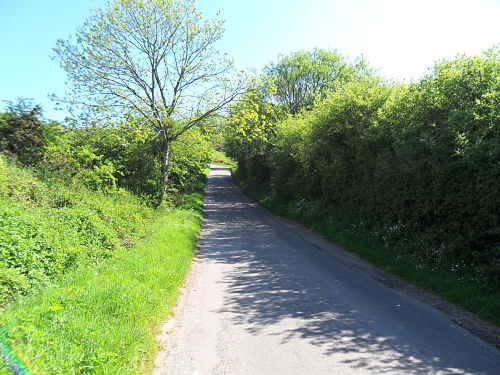 The road now really starts to go up, the steep left hander is in the distance