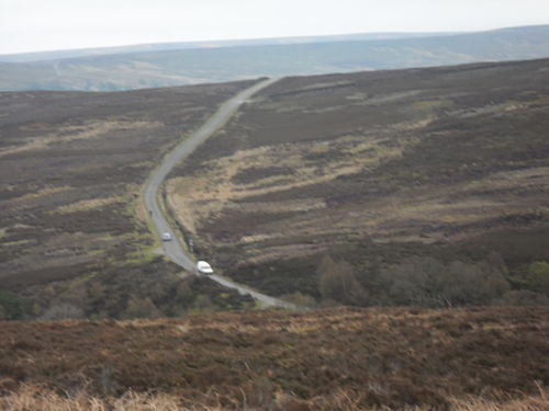 The upper part of the climb viewed from the approach after the first Westerdale climb