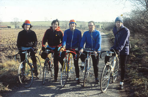 Happier days - left to right Steve Maidens, Steve Binks, John Johnson, Ray Burnett and Geoff Reynolds. Sadly, Steve Binks is now the only one still with us. Steve Maidens died around 1988, Ray Burnett in 2006 and Geoff Reynolds in 2008.