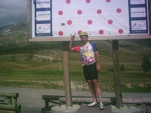 Geoff at the top of Alpe d'Huez
