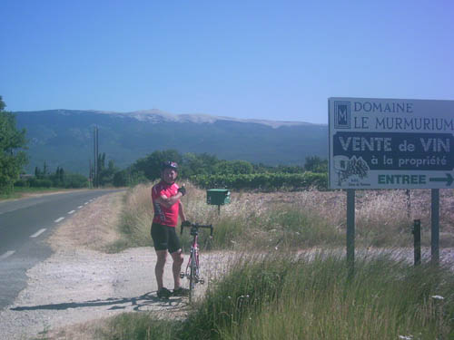 Mike with Mt Ventoux in the background