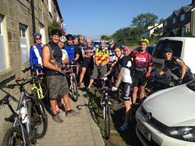 14 happy riders at the start, 13 miles how hard can it be?