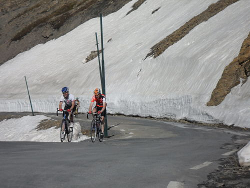 Dave and Ian about to summit the Mighty Galibier