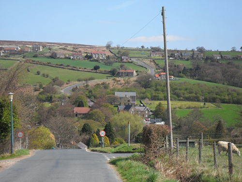 The climb opposite pictured from the descent into the village coming in from Glaisdale.
