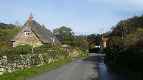 The lower slopes as you head up through the village