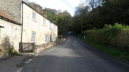 The steep section as you leave the village