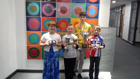 CWCC Winners : Stacey, Daniel, Lewis and Sean