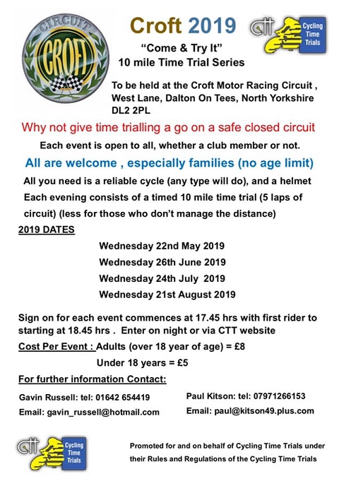 Croft TT Series 2019